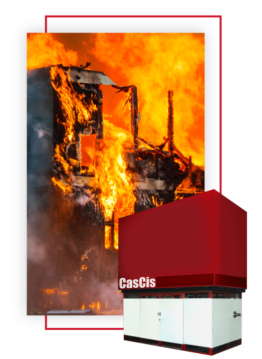 Caseta sistema contra incendio